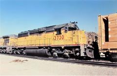 Union Pacific SD40-2 locomotive at Cajon Summit in 1993 (4) (Tangled Bank) Tags: union pacific train railroad railway north american emd locomotive sd402 california 1990s 90s