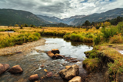 The Brook In The Meadow (chasingthelight10) Tags: events photography travel landscapes mountains places colorado rockymountainnationalpark spraguelake morainepark bearlake emeraldlake dreamlake trailridgeroad horseshoepark things rockymountainelk forests foliage lakes sunrise otherkeywords aspens autumn trees wildlife estespark