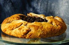 Blueberry Galette (Eat With Your Eyez) Tags: blueberry galette bake baking baked goods cooking dessert chef fruit panasonic fz1000 golden brown delicious crust fall