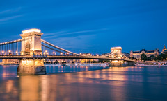 Chain bridge at blue hour (Vagelis Pikoulas) Tags: budapest hungary travel river danube canon 6d tokina 1628mm landscape city cityscape bridge chain hungarian europe holidays september autumn 2018 longexposure blue hour