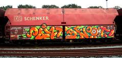 graffiti on freights (wojofoto) Tags: amsterdam nederland holland netherland freighttraingraffiti freighttrain freights fr8 vrachttrein cargotrain wojofoto wolfgangjosten paint benoi benoit