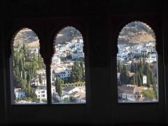 Granada from The Alhambra (saxonfenken) Tags: 1090s 1090 granada spain thoughawindow three window alhambra friendlychallenges