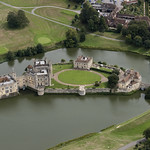 Aerial of Leeds Castle in Kent thumbnail