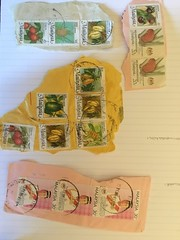 Old Malaysian stamps S.s (collectingartefacts) Tags: artefacts stamps tipperarymuseum