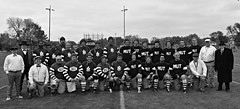 2018 vintage game (David Sebben) Tags: rockislandindependents vintage football game melon leather helmets black white team illinois nfl historic douglas park
