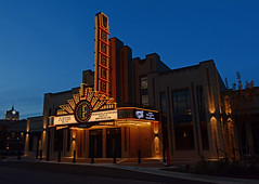 Eagle Theater (davidwilliamreed) Tags: eagletheater sugarhillga gwinnettcounty nightshot afterdark availablelight dusk twilight bluehour theater theatre neonsign colorful vivid color