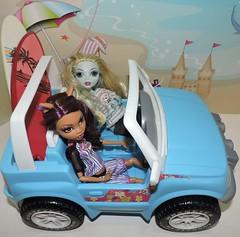 National Teen Driver Safety Week (marilyntunaitis) Tags: dolls monsterhigh clawdeenwolf lagoonablue surfboards