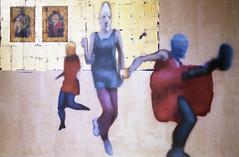 b some wall riot (Ian Allaway) Tags: pussy riot exhibition summerhall edinburgh 35mm nikonfm2 kodak color 200 analogue art
