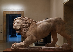 Greek marble lion (diffendale) Tags: nelsonatkinsmuseumofart kansascity museum museo museu musée μουσείο музеи müze artifact display exhibit متحف ancient antico antique archaeological archeologico 4thcbce 2ndhalf4thcbce 3rdquarter4thcbce 4thquarter4thcbce 320sbce earlyhellenistic lateclassical lion leone animal marble marmo sculpture statue bildhauerkunst plastik γλυπτική escultura scultura скульпту́ра نحت heykel
