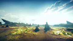 Mad Max (screenreel) Tags: madmax postapocalypse road landscape sky soil desert clouds day light bright horizon tower survivors vehicle atmosphere graphics photo screenshot camera angle blur colorfull destroyed abandoned rock videogame digital gaming pc anomaly liquid green yellowgreen
