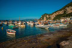Sunshine harbour............. (Dafydd Penguin) Tags: sunshine harbour harbor port dock moorings boast yachts rib sailboat cove anchorage island capri naples bay mediterranean italy leica m10 elmarit 21mm f28