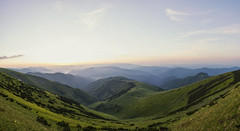 Colors of sunrise (mystero233) Tags: sunrise sun dawn colors colours hills mountains velkafatra np nationalpark fatra slovakia slovensko europe nature green grass sky blue mist morning pano panorama landscape hike tourist valley
