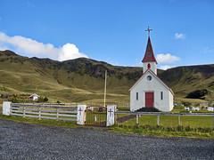 Black Beach, Iceland (neilalderney123) Tags: church iceland landscape graveyard travel olympus