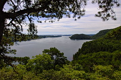 Acadia Mountain (BlueShift 12) Tags: mountain acadia nationalpark maine ocean trees leaves pine pinetree water canoneos5dmarkii rawtherapee