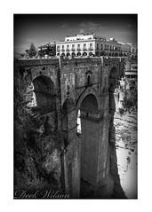 Puente Nuevo (Deek Wilson) Tags: andalucia ronda spain puentenuevo bridge landscape mono blackandwhite black white