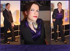 Agent Rikky (Rikky_Satin) Tags: silk satin blouse suit pants highheels pumps crossdresser transvestite transgender tgirl tgurl feminization business office detective agent