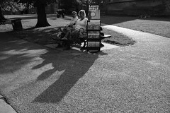 Learn Bible Truths (Bury Gardener) Tags: england eastanglia uk 2018 nikond7200 nikon ely cambridgeshire bw blackandwhite monochrome mono streetphotography street streetcandids snaps strangers candid candids people peoplewatching folks