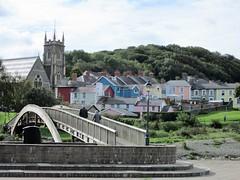 Aberaeron, Wales (pefkosmad) Tags: wales holiday september vacation fishing ceredigion church houses bridge seaside town cardiganbay dyfed aberaeron