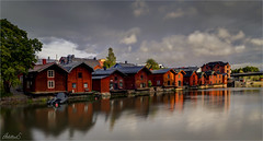 Sunset in Porvoo, Finland (AdelheidS Photography) Tags: adelheidsphotography adelheidsmitt adelheidspictures finland suomi porvoo boathouse river sunset evening goldenhour