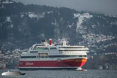 Bergensfjord (Aviation & Maritime) Tags: bergensfjord fjordline ferry carferry cruiseferry passengerferry passengership bergen norway