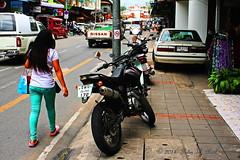 "Chiang Mai Walkabout. (ol'pete) Tags: เชียงใหม่ chiangmai ประเทศไทย thailand เมืองไทย ถนนท่าแพ ""thapaeroad"" footpath traffic obstructions ""canoneos350d"" ""efs1855mm"""