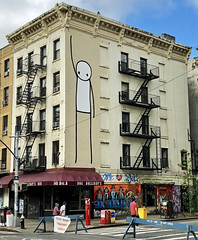 Stik (wiredforlego) Tags: graffiti streetart urbanart eastvillage manhattan newyork nyc mural aerosolart stik