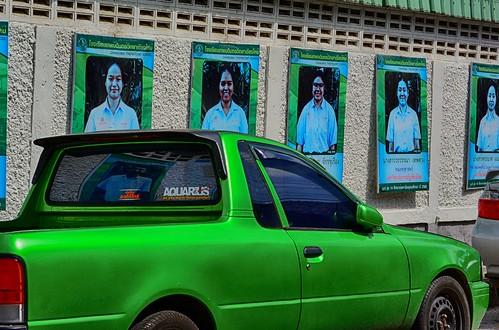 Green truck Around  Chiang Mai  2018 July_edited