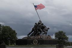 Iwo Jima (Marine Corps) Memorial (CGDana) Tags: washington dc monument urban national storm canon 7d