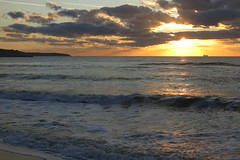 Black Sea in Varna (lyura183) Tags: bulgaria българия varna варна sunrise sun clouds sky sea blacksea черноморе