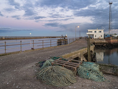 Piers (harrytaylor6) Tags: blyth piers fishing rope moon clouds sea