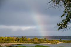 Pot Of Gold (skram1v) Tags: elkisland rainbow horribleweather potofgold rain sleet sunpatch sandybay lake winnipeg manitoba sandbar canon