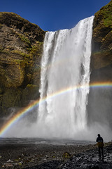 Rainbow falls. (lawrencecornell25) Tags: rainbow waterfall skogafoss iceland southerniceland nature scenery outdoors travel nikond850