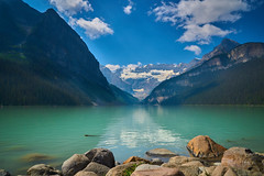 Lake Louise (alphapiglet_) Tags: banff canada sony a6000 sonyalpha teal lake reflection clouds valley blue green snow peak nature landscapes