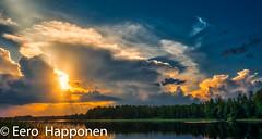 Thunderstorm is over (Eero Happonen) Tags: 2018 fujifilmxt2 fujinonxf1855mmf284rlmois sysmä auringonlasku lake lakejoutsjärvi