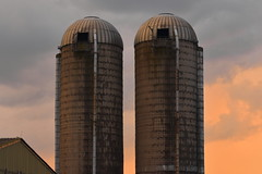 Beyond Holocaust (Robin Shepperson) Tags: summer sunset towers farm agriculture fallout rust old aged clouds colours red orange yellow nuclear berlin germany d3400 nikon twilight evening countryside