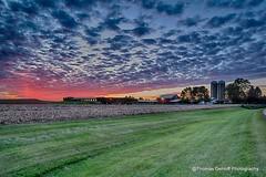 A great sunset over Cascade Iowa (Thomas DeHoff) Tags: sunset iowa cascade farm sony a77mk2 hdr