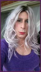 Love this purple ❤️💕💕 👄💋💋 (bevhills2) Tags: tgirl lipstick sub dominant sweater tg redlipstick browneyes gf sexysmile redlips makeup dom tgurl transgender trannygirlfriend trap purplehair purple