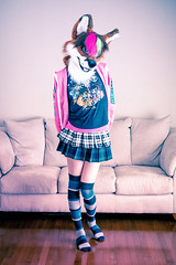 Ice Foxx - Fall 2018 (Ice Foxx) Tags: 91e207427274e5 fox furry fursuit hoodie overwatch skirt skirts socks