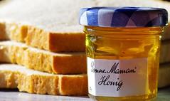 Honey and bread... a perfect match (G_E_R_D) Tags: macromondays perfectmatch honey honig bread brot lecker yummy süs sweet