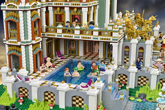 Palace In Wonderland (Brickbaron) Tags: lego fantasy factories eco pollution palace castle disney wonderland landscape art aliceinwonderland architecture