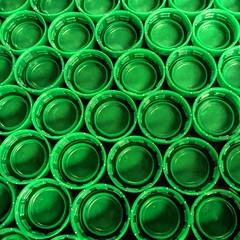 Bottle Caps (clarkcg photography) Tags: 7dossinglecolourgeometrysunday green cap waterbottle bottlecap screwcap plasticcap triangle star circle