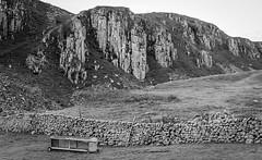 Holwick Scar . (wayman2011) Tags: colinhart fujifilmxpro1fujifilmxf35f2 lightroom5 wayman2011 bwlandscapes mono rural drystonewalls cliffs outcrop rocks pennines dales teesdale holwick countydurham uk
