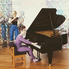 (thirteen watches the master playing piano in her pyjamas)