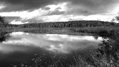 Skiff Mountain Lake II _ bw (Joe Josephs: 3,166,284 views - thank you) Tags: kent kentct landscape landscapephotography travel travelphotography hiking outdoorphotography skiffmountain ecology lake water waterreflection clouds dramaticsky nature naturephotography blackandwhitephotography bw monochrome