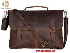Leather BriefcaseLaptop Bags -LBG083 (leathersstuffs) Tags: leathersstuffs goods buffalo cow sheep men women wallet fashion accessories business card holder backpack briefcase laptop bags