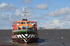 Ferry Across The Mersey River. (Manoo Mistry) Tags: nikon nikond5500 tamron tamron18270mmzoomlens liverpool northwest englanduk sky merseyside rivermersey ferry