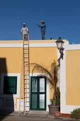 Men at work (Antti Tassberg) Tags: talo italy tikapuut ventotene travel csfb building house ladder rakennus provinceoflatina it