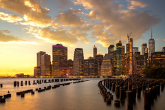 Cityscape of New york city with sunset and light from city and harbor (anekphoto) Tags: new york skyline city panorama manhattan river night midtown urban sunset blue dusk building cityscape travel architecture panoramic office usa state empire evening america landmark skyscraper hudson buildings east modern sky nyc view light colorful reflection jersey famous downtown waterfront sunrise color red landscape day park ny outdoors scene cloud