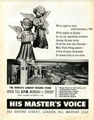 'HMV Oxford Street' Advert 1963 : (Retro King) Tags: hmv his masters voice shop 1963 oxford street advertisment magazine london swinging christmas store records vinyl british ad lps retail albums singles jazz 1960s retro advert vintage