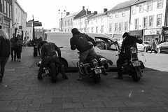 The Boys are Back in Town (Bury Gardener) Tags: streetphotography street streetcandids snaps strangers candid candids people peoplewatching folks 2018 bw blackandwhite monochrome mono nikond7200 nikon england eastanglia uk buttermarket